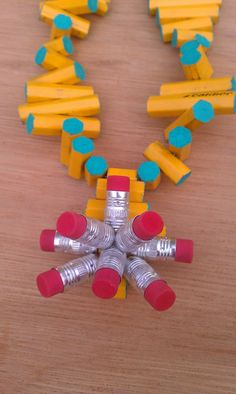 Cool things to make with school supplies: Pencil Eraser Necklace