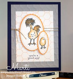 I& so excited about these amazing new products from Stampin& Up! This is one example of the free stamp set you can earn when you spen. Stampin Up Anleitung, Stamping Up Cards, Bird Cards, Animal Cards, Funny Cards, Paper Cards, Cool Cards, Creative Cards, Scrapbook Cards