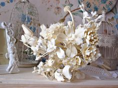 For example, the bride's bouquet, cold porcelain, white bouquet, wedding bouquet, wedding lily, wedding roses, clay flowers,