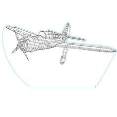 Plane3 3d illusion vector file - 3bee-studio