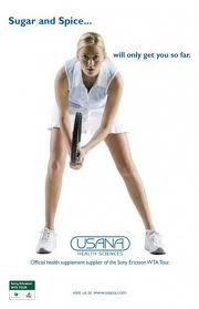 "SUGAR AND SPICE WILL ONLY GET YOU SO FAR ...  Over 160 WTA world class professionals depend on USANA HEALTH SCIENCES for their nutritional needs ""on and off the court"".  Visit us at: www.bobfranklin.u... and see why!"