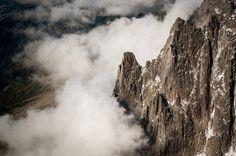 Winter Mountain, Chamonix, Mountain Landscape, Half Dome, Alps, Clouds, Mountains, Rock, Nature