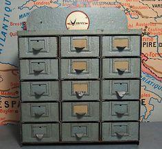 Caisse bac boite de rangement en m tal meuble a casier design industriel atel - Petit meuble industriel ...