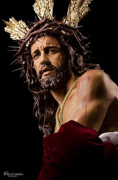 crown of thorns Pictures Of Jesus Christ, Jesus Christ Images, Catholic Art, Religious Art, Christus Tattoo, Jesus Christ Statue, Sainte Therese, Religious Tattoos, Jesus Face