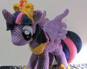 Ravelry: Princess Twilight Sparkle from My Little Pony pattern by The Nerdy Knitter Crochet Pony, Crochet Unicorn Hat, Crochet Amigurumi, Amigurumi Patterns, Amigurumi Doll, Crochet Dolls, Crochet Patterns, Crochet Pokemon, Crochet Crafts