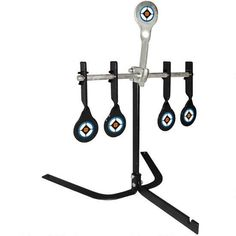 "Take your target practice to the next level of fun and games with this .22 Auto Reset Target from Do-All Outdoors! As you hit each 2.5"" target it swings back to lock into an up-right vertical position. But there's no wasting time going down range to reset; Simply shoot the center reset target to start your next round! The targets are angled slightly forward to deflect the bullet splash safely into the ground. It includes ground spikes to ensure the target base remains stable at all times…"
