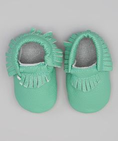 Another great find on #zulily! LeighBees Teal Leather Moccasin Bootie by LeighBees #zulilyfinds