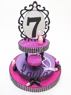 Spa Party Cake Topper by EllasPartyDesigns on Etsy