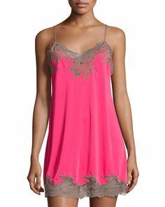 6f7ab95e76 Natori enchant lace-trimmed chemise posy/lace $145
