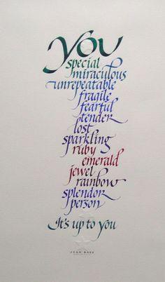 carol dubosch calligraphy
