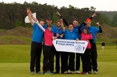 Das Golf-Team der FAU, das bei den jährlichen Deutschen Hochschulmeisterschaften in Schwerin erfolgreich abschnitt.