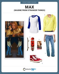 Things outfit Dress up like Max, the California girl who is the lastest character to appear on. Dress up like Max, the California girl who is the lastest character to appear on the Netflix series, Stranger Things. Nancy Stranger Things, Stranger Things Quote, Stranger Things Aesthetic, Stranger Things Netflix, Stranger Things Halloween Costume, Costume Halloween, Cool Costumes, Stranger Things Costumes, Disfraces Stranger Things