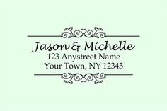Handle MOUNTED personalized Return address rubber stamp via Etsy