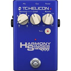 TC-Helicon Harmony Singer: Vocal effects stomp box featuring guitar-controlled harmony, adaptive tone and reverb. Quickly and easily create great vocals live on stage. Guitar Chords, Guitar Amp, Digital Piano Keyboard, Used Guitars, High End Audio, Pedalboard, Nintendo Wii Controller, Choir, Musical Instruments