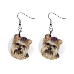 Yorkie Yorkshire Terrier Dog Button Earrings Pet Lover Jewelry 12110663 - http://www.thepuppy.org/yorkie-yorkshire-terrier-dog-button-earrings-pet-lover-jewelry-12110663/