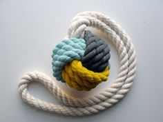 We're smitten with Cassandra Smith's colorful knots. #NauticalJuly