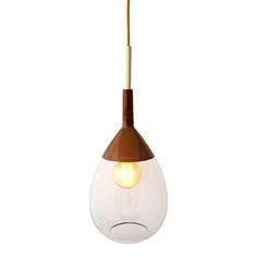 £276 Ebb & Flow - Lute Pendant Lamp - Clear on Copper