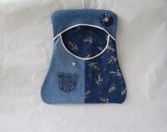 Denim Clothesline Bag  Clothespin Bag  by GrannysRecycledRags, $30.00