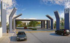Acceso residencial Citala, Zapopan, Jalisco. Render y obra terminada.