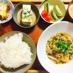 お手軽和定食 - 13件のもぐもぐ - 鶏肉ときのこのとろみ煮 by マイナナ☆