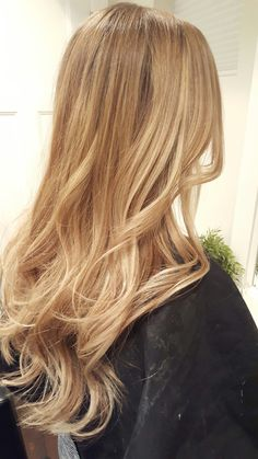Honey blonde. Golden blonde. Balyage. Ombre. Babylights