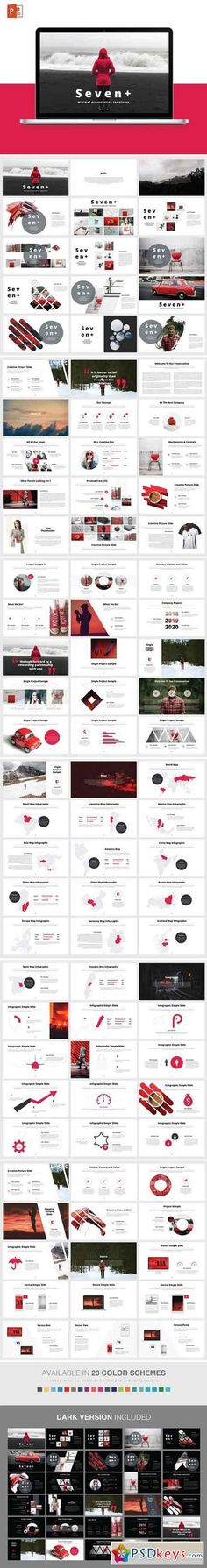 SEVENT+ POWERPOINT Template #business, #templates