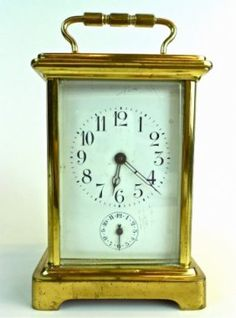 French Time And Alarm Carriage Clock