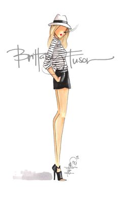striped tee - brittany fuson