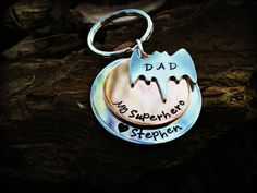 Keychains. Personalized Dad Keychain  Dad is My by CharmletteDesigns on Etsy, $26.00