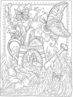 Welcome to Dover Publications Dover Coloring Pages, Abstract Coloring Pages, Spring Coloring Pages, Free Adult Coloring Pages, Cute Coloring Pages, Free Printable Coloring Pages, Coloring Books, Flower Coloring Sheets, Colouring Sheets For Adults