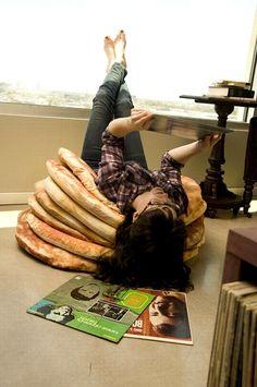 Yummy interior design: pancake pillows