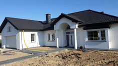 Beautiful House Plans, Beautiful Homes, House Outside Design, House Design, Modern House Facades, Bedroom House Plans, Facade House, Home Fashion, How To Plan