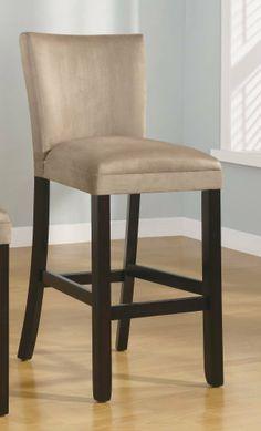 "Amazon.com - Set of 2 29""H Bar Stools Taupe Microfiber - Barstools With Backs $160"