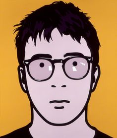 Graham Coxon by Julian Opie C-type colour print on paper laid on panel, 2000 34 1/8 in. x 29 7/8 in. (868 mm x 758 mm)