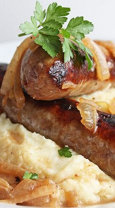 Bangers and Mash (Low Carb and Gluten Free