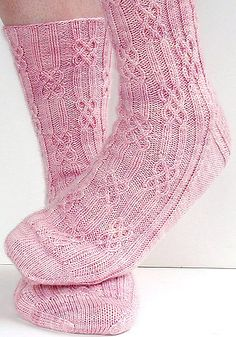 Ravelry: lateniteknitter's Brigit, toe-up socks with twisted stitches and cables, knitted in Oceanwind Knits Sock Merino. Free sock pattern: Brigit by Monkey Toes. Crochet Socks, Knitting Socks, Hand Knitting, Knit Crochet, Knitting Patterns, Crochet Patterns, Knit Socks, Ravelry, Knitting Projects