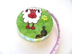 Tape Measure for Knitters Measuring Tape by AllAboutTheButtons, $7.75 USD