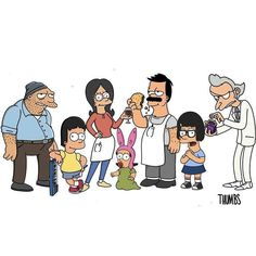 Burns and Mr.Fischoeder is perfect. Tina looks off with Lisa's design. Cartoon Crossovers, Cartoon Movies, Cartoon Shows, Bobs Burgers Funny, Tina Belcher, Futurama, The Simpsons, Spirit Animal, Favorite Tv Shows