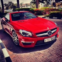Red Mercedes ❤️