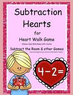 Browse educational resources created by AT in the official Teachers Pay Teachers store. Kindergarten Lessons, Math Lessons, Holiday Activities, Math Activities, Teaching Subtraction, Valentine Theme, Monthly Themes, Math Problems, 1st Grade Math