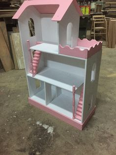 Wooden Dollhouse, Diy Dollhouse, Dollhouse Furniture, Modern Teen Room, Projects For Kids, Crafts For Kids, Large Dolls House, Doll House Plans, Little Girl Gifts