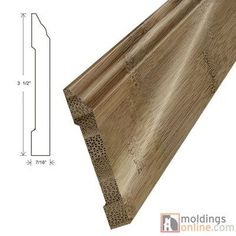 "Moldings Online 0.44"" x 3.5"" x 72"" Wall Base"