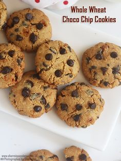 Easy Chocolate Chip Cookies Recipe - Easiest Chocolate Chip Cookie recipe is a straightforward chocolate chip cookie recipe which makes super soft chocolate, super yummy chip cookies - no. Eggless Cookie Recipes, Eggless Desserts, Chip Cookie Recipe, Homemade Cake Recipes, Biscuit Recipe, Snack Recipes, Dessert Recipes, Snacks, Almond Meal Cookies
