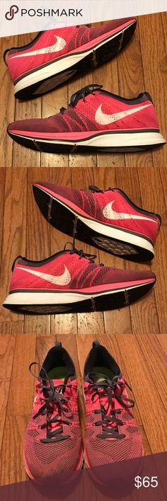 release date: afe0f 772e8 2012 Nike Flyknit Trainer Flash Pink Size 11 These shoes have been worn but  they still