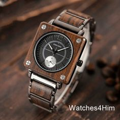 Handcrafted Watch Win a Bobo Bird Wooden Gentleman& Watch with handcrafted collectible case a. Great Gifts For Boyfriend, Groomsmen Watches, Best Looking Watches, How To Waterproof Wood, Watch Engraving, Wooden Watch, Luxury Watches For Men, Quartz Watch, Watch Bands