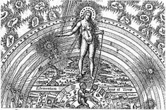 Hermetic Symbolism in a Masonic Engraving     On the earth stands Diana the 'Queen of Heaven' bearing seven breasts. Four symbolic objects are shown-the square, compass, plumb-line and scales, suggesting the geometric patterns of harmony that are found in the cosmos. Beneath her feet is the 'Physical, Moral, Natural Philosopher's Stone'. This picture echoes the symbolism of one of Robert Fludd's well known diagrams.