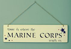 Marine Corps gift, Wood Sign, Americana Gift, Military Gift, Rustic Decor, Home Decor, Gift, Shabby Chic. $30.00, via Etsy.