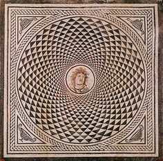 Mosaic Floor with Medusa   Unknown  Roman, about 115 - 150 A.D.  Stone  H: 106…