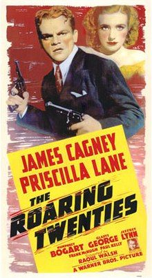 1939 The Roaring Twenties James Cagney movie poster 24x36 inches