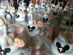 mini cake confezionate con scatolina in pvc e marshmallow